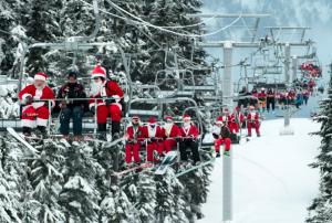 Whistler Christmas Santa Ski